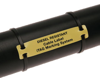 Diesel Resistant Cable Labels